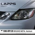 1080-BR120 Brushed Metal Aluminum