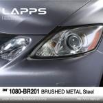 1080-BR201 Brushed Metal Steel